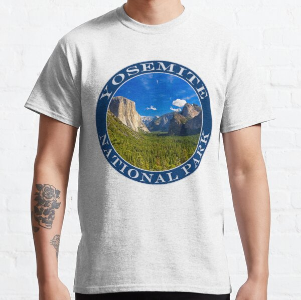 Valley Blue Sky And Clouds Yosemite National Park Classic T-Shirt