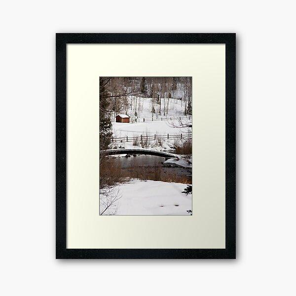 Roaring Fork Bridge Framed Art Print