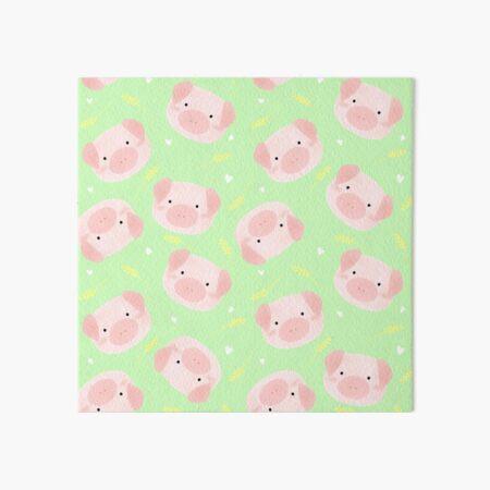Oink! (Green) Art Board Print