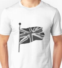 Great Britain flag, union jack Black & White T-Shirt