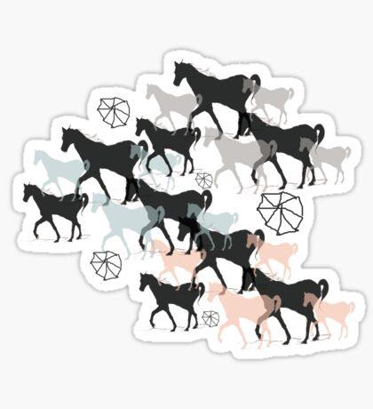 Horses Glossy Sticker