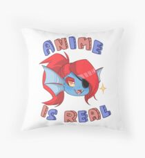 Undyne - Anime is real Throw Pillow