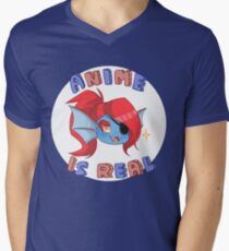 Undyne - Anime is real Men's V-Neck T-Shirt