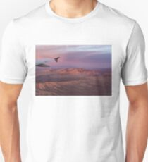 Loving the Window Seat - Pink Dawn Over the High Mojave Desert T-Shirt