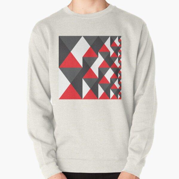 Geometric Pattern 20 (red triangles) Pullover Sweatshirt