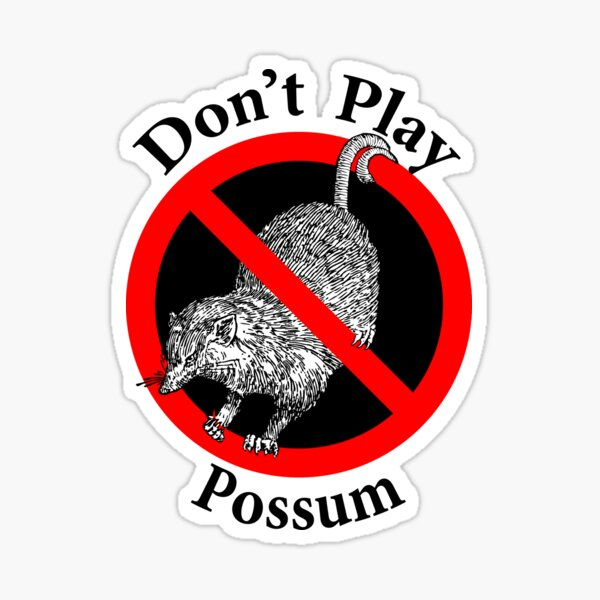 Don't Play Possum - No Fooling Sticker