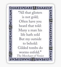 All That Glisters Is Not Gold - Shakespeare Sticker