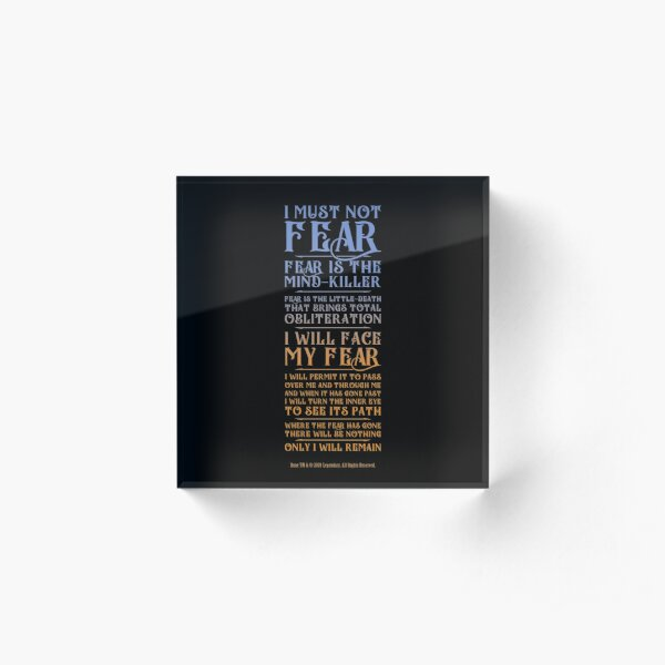 Litany Against Fear - Dune 2021 Acrylic Block