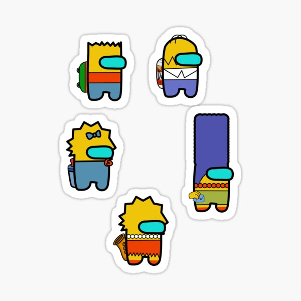 Among us - The simpsons edition Sticker