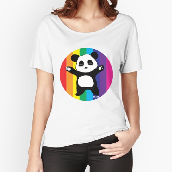 Rainbow Panda Hugs Relaxed Fit T-Shirt