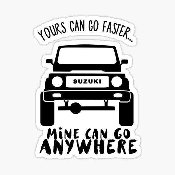 Suzuki Samurai Humorous Art Sticker