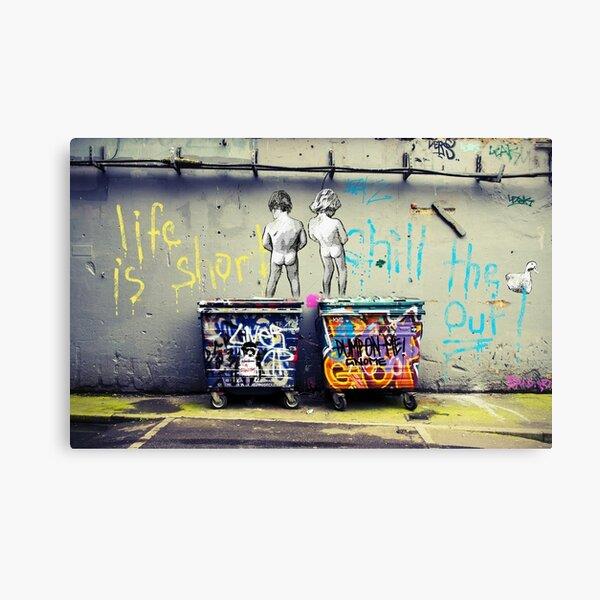 Banksy Chill le canard Impression sur toile