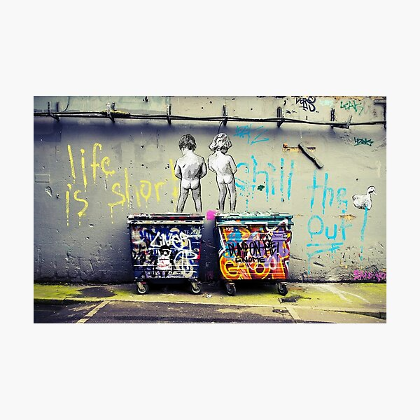 Banksy Chill the Duck Out Photographic Print