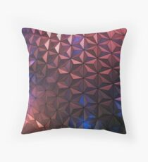 Spaceship Earth at Night Throw Pillow