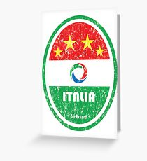 World Cup Football 2/8 - Italia (Distressed) Greeting Card