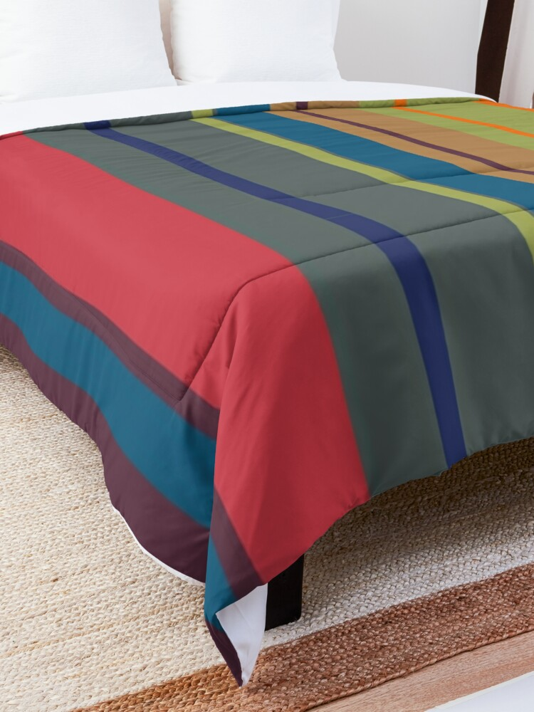 Alternate view of  Playful lines Comforter