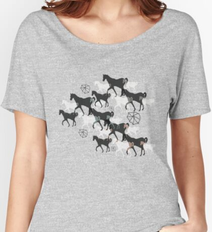Horses Relaxed Fit T-Shirt