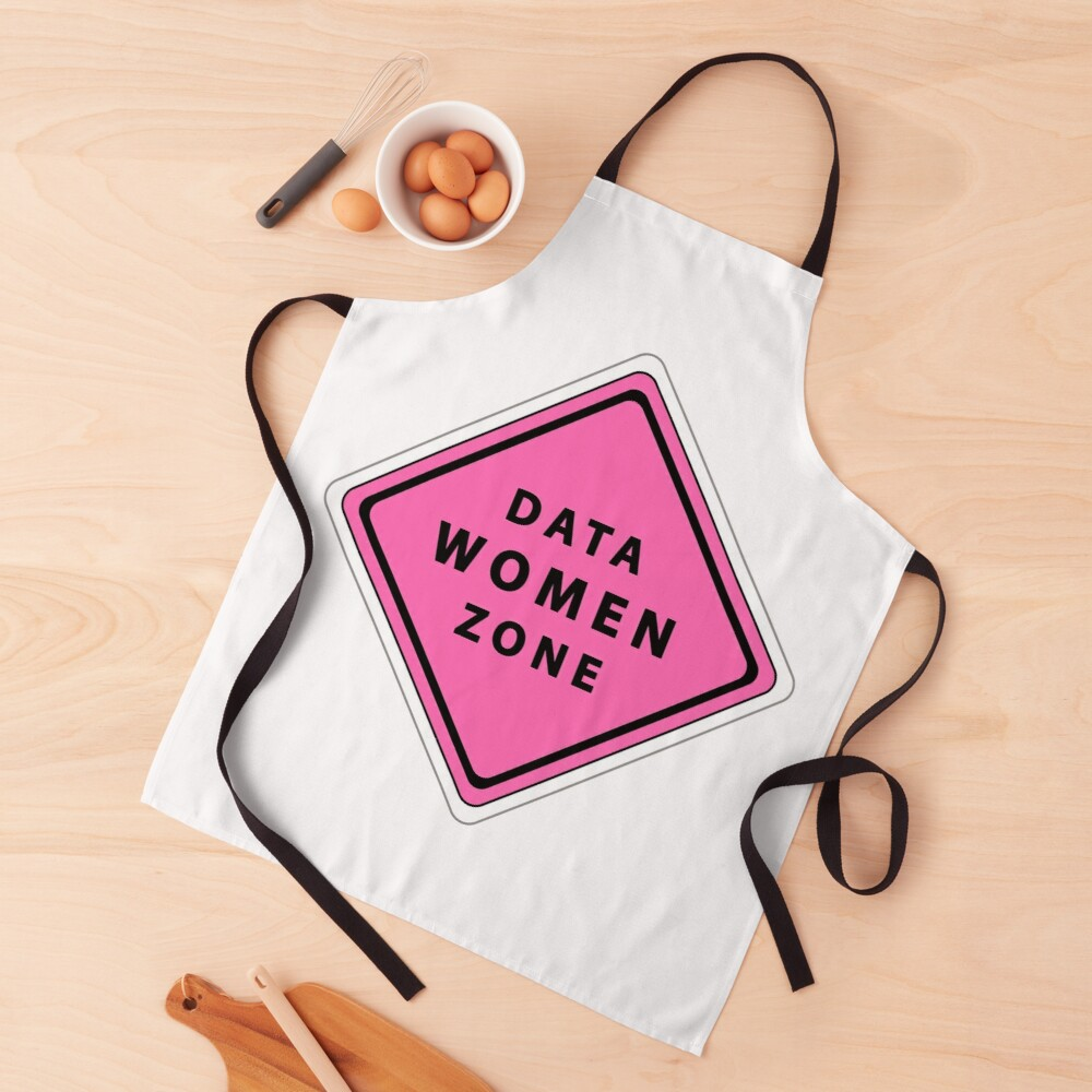 Data woman zone Apron