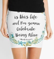 Brett quote Mini Skirt