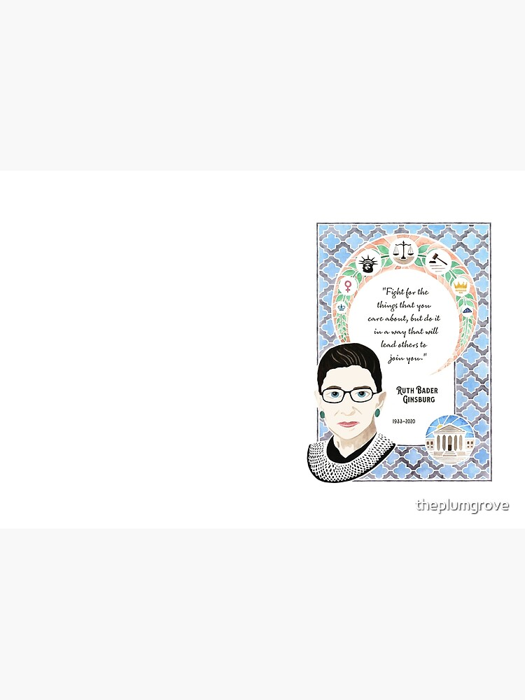 Ruth Bader Ginsburg Tribute Watercolor Painting by theplumgrove