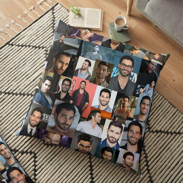 Tyler Hoechlin collage Floor Pillow