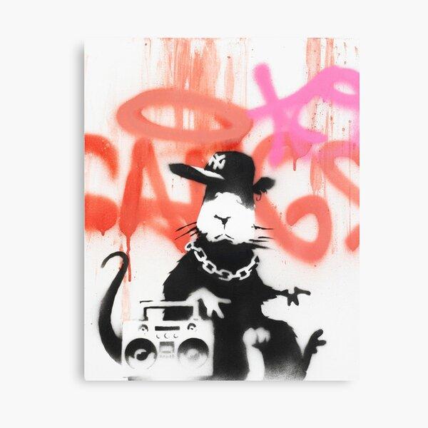 Banksy Hip Hop Rat Canvas Print