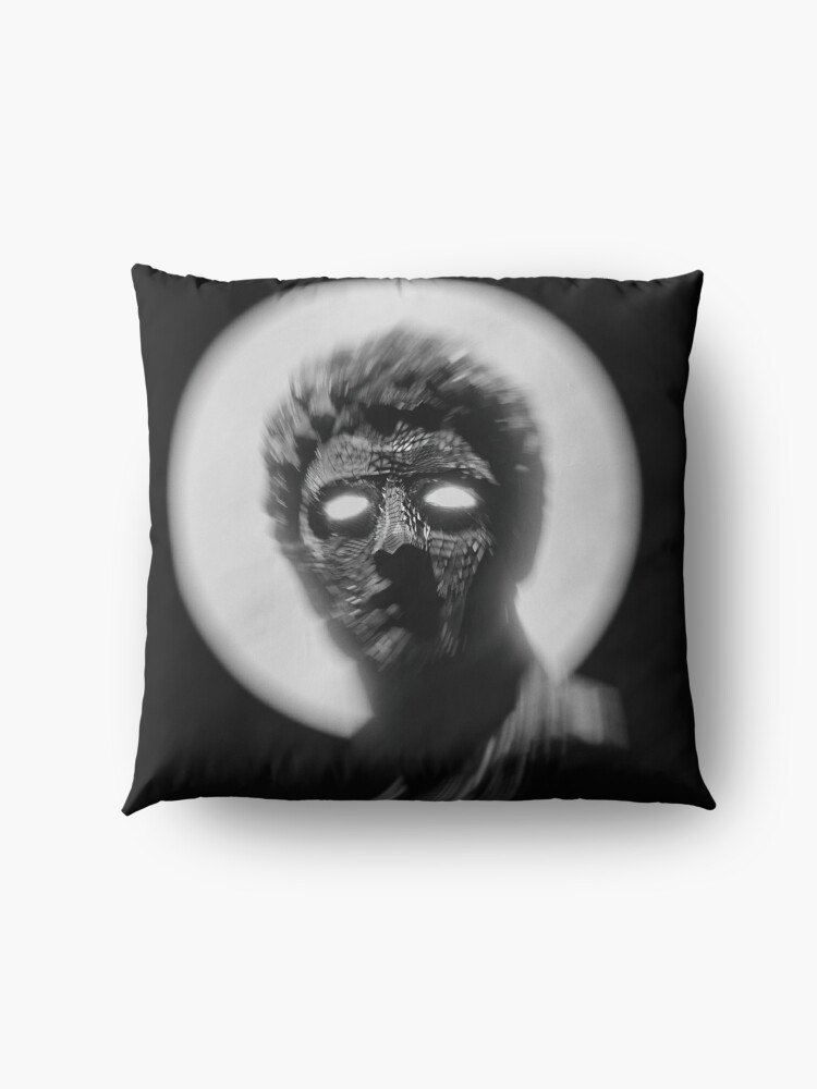 Alternate view of BLACK AND WHITE STATUE WITH GLOWING EYES  Floor Pillow