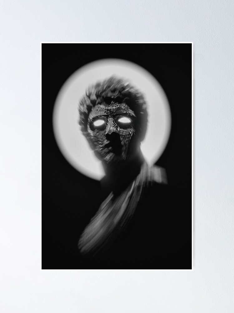 Alternate view of BLACK AND WHITE STATUE WITH GLOWING EYES  Poster