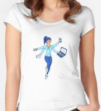Super Freelance Woman Women's Fitted Scoop T-Shirt