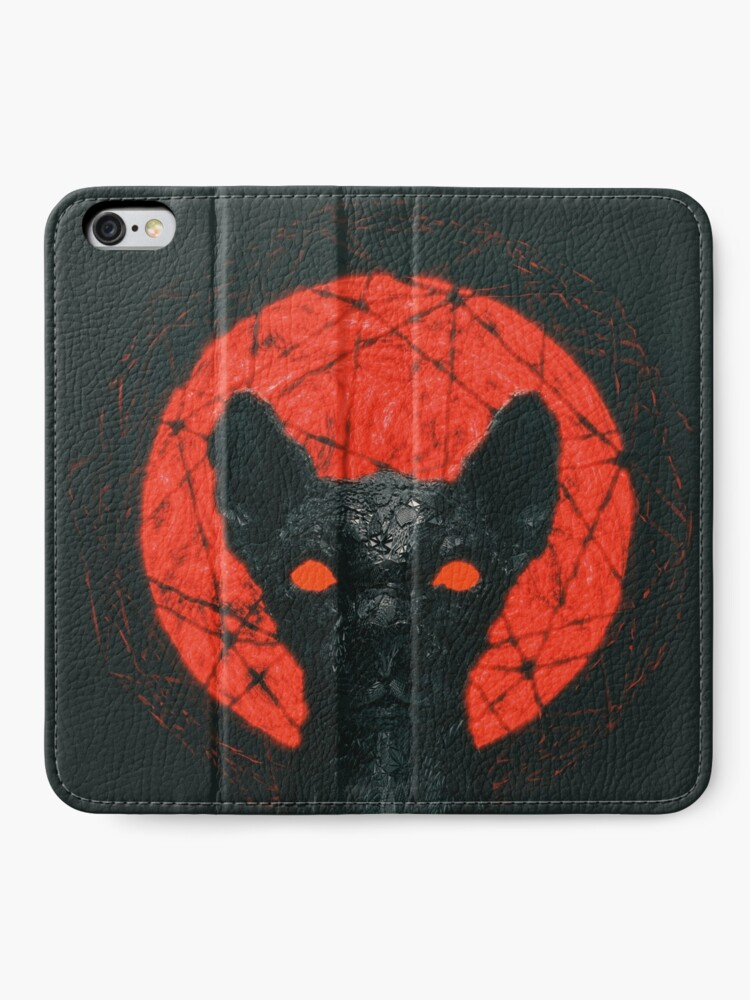 Alternate view of JUDGEMENTAL CAT  iPhone Wallet