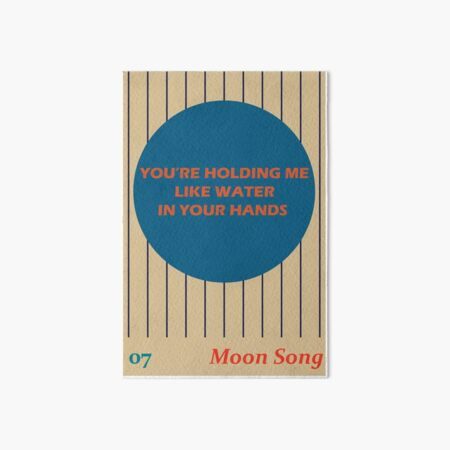 Phoebe Bridgers Moon Song lyrics Art Board Print