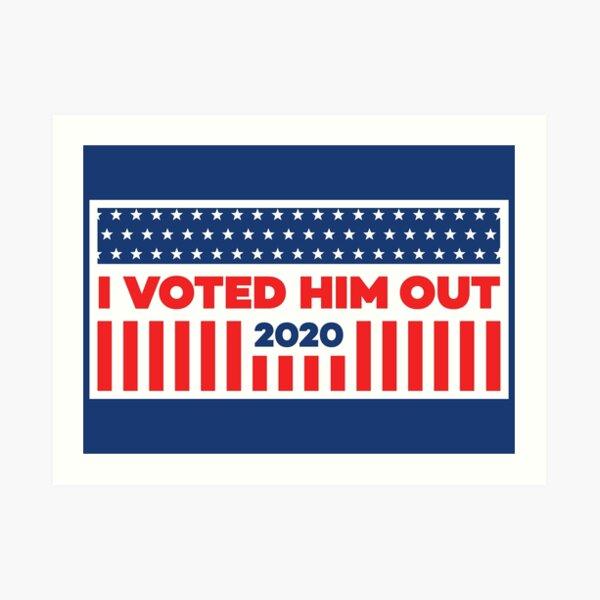 I Voted - Blue Art Print