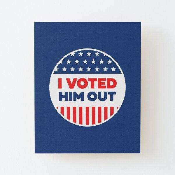 I Voted - Blue Circle Wood Mounted Print