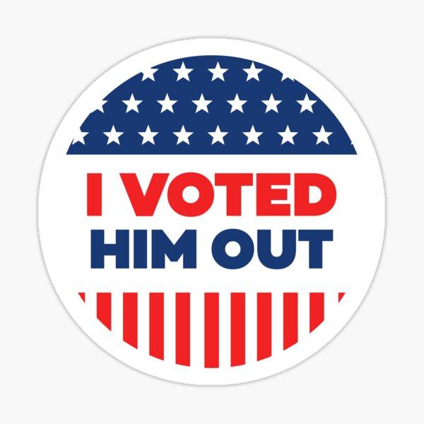 I Voted - Blue Circle Sticker