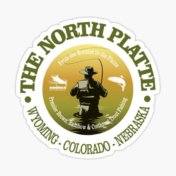 North Platte River Fly Fishing (FSH) Sticker