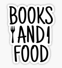 BOOKS AND FOOD Sticker