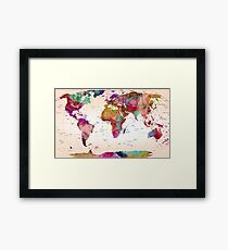 map of the world Framed Print
