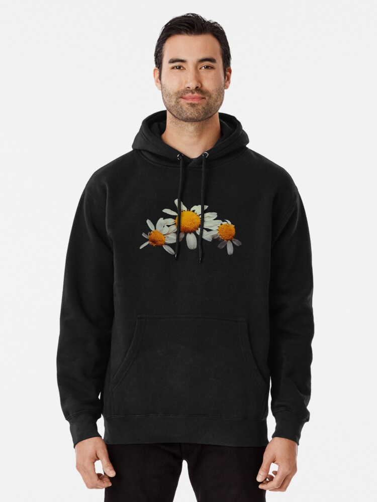 Alternate view of Wild camomile flower photo Pullover Hoodie
