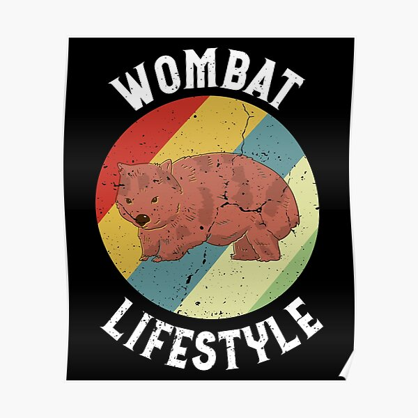 Retro Wombat Lifestyle Poster
