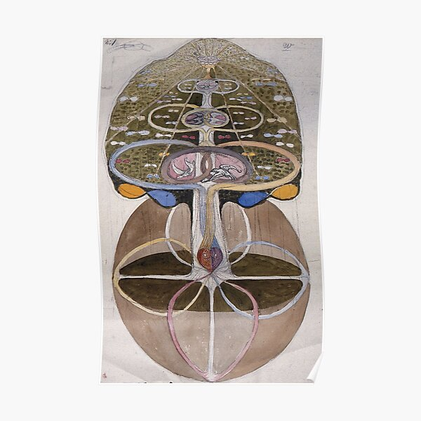 Tree of Knowledge, No.1 (1913) by Hilma Af Klint Poster