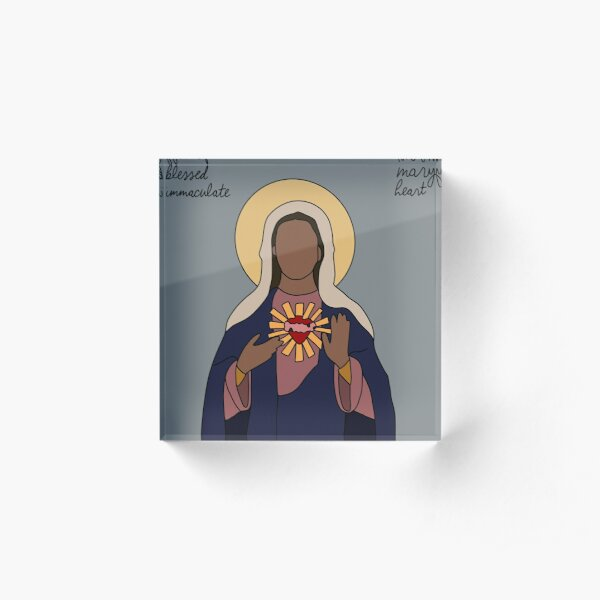 Blessed Mary of the Immaculate Heart Acrylic Block