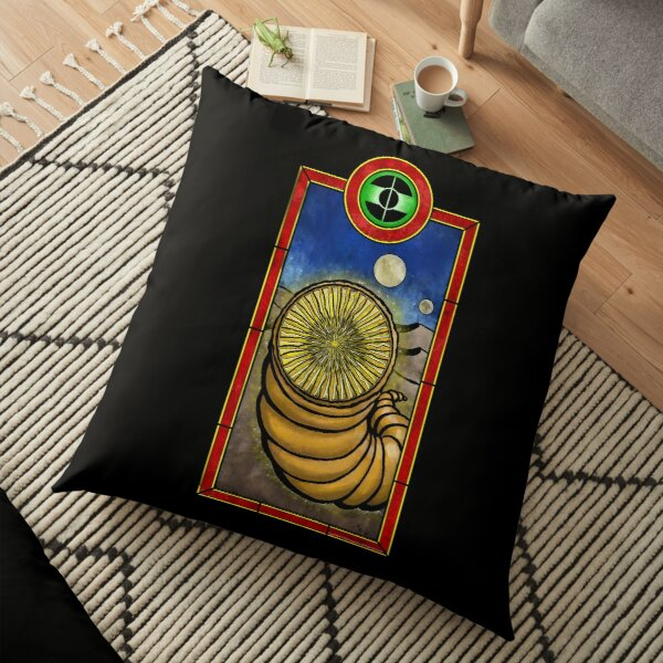 Shai-hulud, stained glass style Floor Pillow