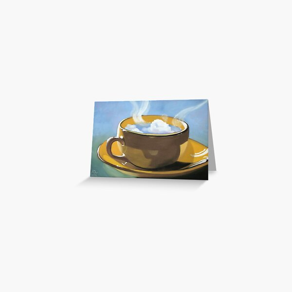 Coffee clouds Greeting Card