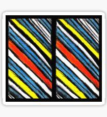 Colored Stripes Twin Sticker