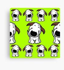 Bull Terrier Repeat Canvas Print