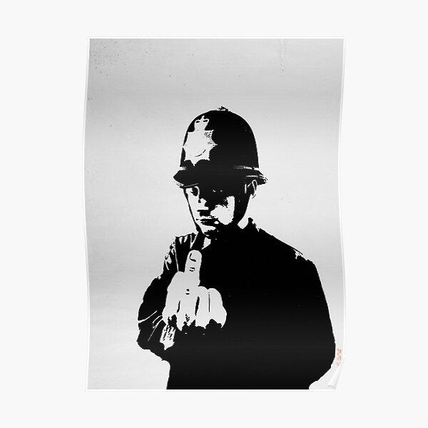 BANKSY Rude Copper Poster