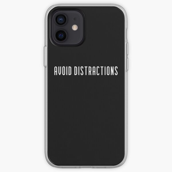 Avoid Distractions iPhone Soft Case