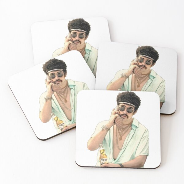 bad Bunny With Shellphone Coasters (Set of 4)