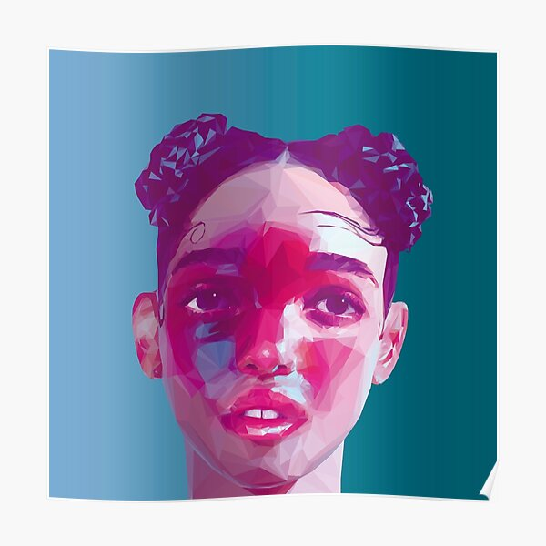 Colección Fka Twigs LowPoly / High Poly Póster