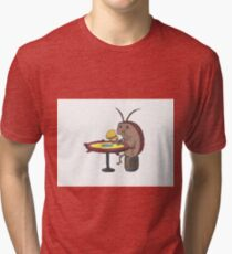cockroach eating crabby patty - spongebob Tri-blend T-Shirt